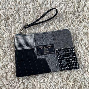 Finnigan Hand Sewn Patch Fabric Zip Pouch Wristlet